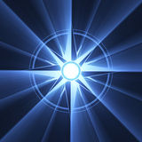 Compass star symbol blue light halo Stock Photo