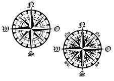 Compass symbol Royalty Free Stock Image