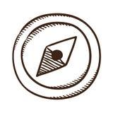 Compass symbol. Royalty Free Stock Photo