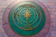 Compass symbolic on washington DC ground. Near Capitol building Stock Photo