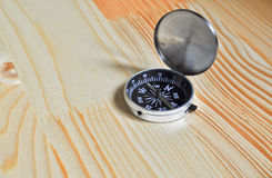 The compass on table. Stock Image