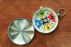 Compass on the table. Royalty Free Stock Photography