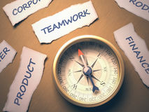 Compass Teamwork Royalty Free Stock Photography