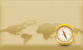 Compass Theme. With space for your text Royalty Free Stock Image