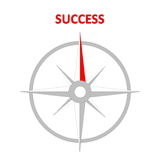 Compass to success Royalty Free Stock Photo