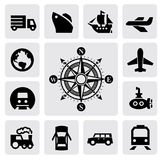 Compass and transport Royalty Free Stock Photography