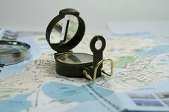 Compass travel concept Royalty Free Stock Photo
