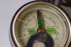 The compass. a valuable tool once to navigate, it indicates the way, the direction. would need a compass for life .... The compass. a valuable tool once to stock photo