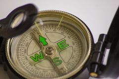 The compass. a valuable tool once to navigate, it indicates the way, the direction. would need a compass for life .... The compass. a valuable tool once to stock image