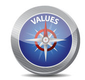 Compass values illustration design Stock Photography