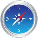 Compass-vector. Highly detailed compass illustration on a white background Royalty Free Stock Image