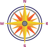Compass. A vector drawing represents compass design Royalty Free Stock Image