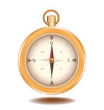 Compass vector element object design gold color Royalty Free Stock Image