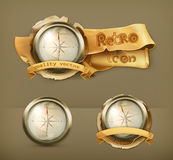 Compass vector icons Stock Images