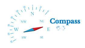 Compass Vector illustration Abstract background Royalty Free Stock Photos