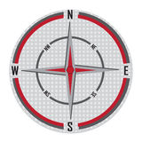 Compass. Vector illustration of a compass with all directional on a white background Stock Images