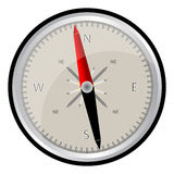 Compass. Vector illustration of a compass with all directional on a white background Royalty Free Stock Photos