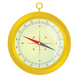 Compass vector illustration gold color Stock Image