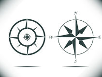 Compass vector illustration. Compass, navigation wind rose different styles - vector illustration fully editable, you can change form and color Royalty Free Stock Photos