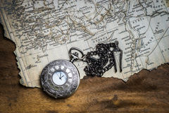 Compass and vintage map Stock Photography