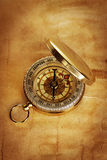 Compass on vintage old paper Royalty Free Stock Photo