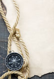 Compass on vintage paper Royalty Free Stock Image