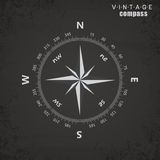 Compass vintage - style vector illustration Royalty Free Stock Images
