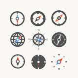 Compass web icons collection Stock Photos