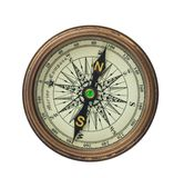 Compass on white background Royalty Free Stock Image