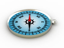 Compass  on white background. 3D image Royalty Free Stock Photo