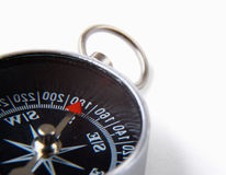 Compass,  on white background. Royalty Free Stock Photo