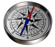 Compass on white background. Path included Stock Photo