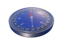 Compass (White background) Stock Image