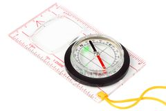 Compass on a white background Stock Images