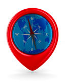 compass on white background. Isolated 3D Stock Photos