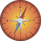 Compass on a white background with streaks royalty free illustration