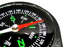Compass on white closeup Stock Images
