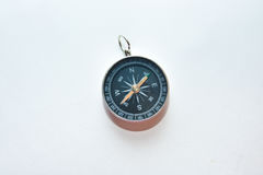 Compass on white. Royalty Free Stock Images