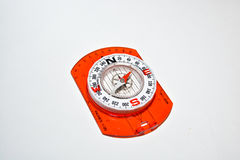 Compass on white. Royalty Free Stock Image