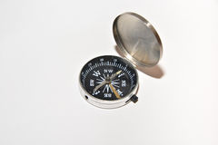 Compass on white. Royalty Free Stock Photo
