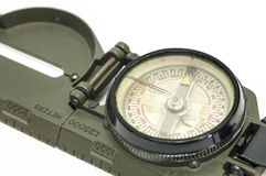 Compass  on white Stock Image