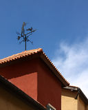 Compass wind on roof Royalty Free Stock Image