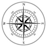 Compass wind rose