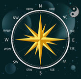 Compass a wind rose Royalty Free Stock Images