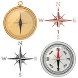 Compass and wind rose Royalty Free Stock Images