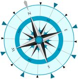 Compass Wind Rose. Illustration. EPS version available Royalty Free Stock Image
