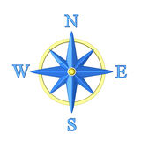 Compass wind rose 3d Royalty Free Stock Photos