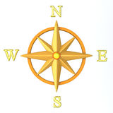 Compass wind rose 3d Stock Image