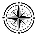 Compass wind rose hand drawn vector design element.  Stock Photos