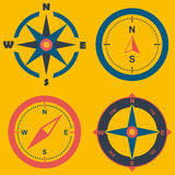 Compass.wind rose illustraition.wind rose on background Stock Photos